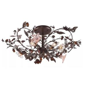 Cristallo Fiore - Three Light Semi-Flush Mount