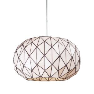 Tetra - 3 Light Chandelier in Modern/Contemporary Style with Mid-Century and Retro inspirations - 10 Inches tall and 16 inches wide