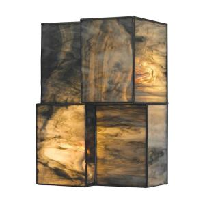 Cubist - 9.6W 2 LED Wall Sconce in Modern/Contemporary Style with Art Deco and Asian inspirations - 10 Inches tall and 7 inches wide