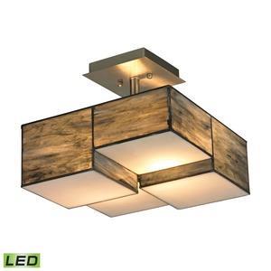 """Cubist - 13"""" 19W 2 LED Semi-Flush Mount"""