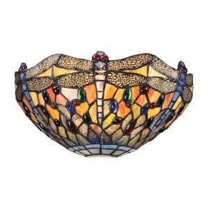 Dragonfly - 1 Light Wall Sconce in Traditional Style with Victorian and Vintage Charm inspirations - 6 Inches tall and 13 inches wide
