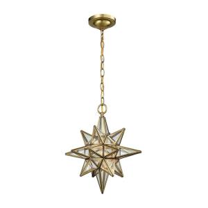 Beamer - 1 Light Mini Pendant in Traditional Style with Boho and Mid-Century Modern inspirations - 16 Inches tall and 12 inches wide