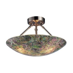 Avalon - 3 Light Semi-Flush Mount in Transitional Style with Luxe/Glam and Boho inspirations - 11 Inches tall and 16 inches wide