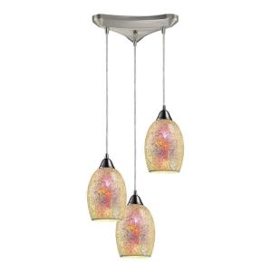 Avalon - 3 Light Linear Pendant in Transitional Style with Luxe/Glam and Boho inspirations - 6 Inches tall and 5 inches wide
