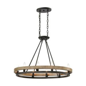 Ramsey - 8 Light Island in Transitional Style with Modern Farmhouse and Art Deco inspirations - 20 Inches tall and 30 inches wide