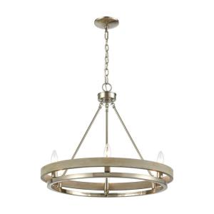 Ramsey - 8 Light Chandelier in Transitional Style with Modern Farmhouse and Art Deco inspirations - 21 Inches tall and 24 inches wide
