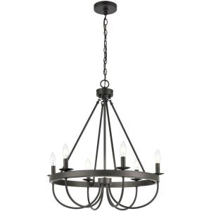 Williamson - 6 Light Chandelier in Traditional Style with Country/Cottage and Southwestern inspirations - 28 Inches tall and 25 inches wide