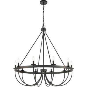 Williamson - 10 Light Chandelier in Traditional Style with Country/Cottage and Southwestern inspirations - 39 Inches tall and 38 inches wide