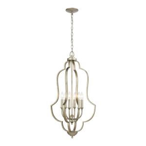 Lanesboro - 6 Light Pendant in Traditional Style with French Country and Country/Cottage inspirations - 34 Inches tall and 18 inches wide