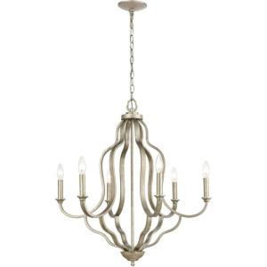 Lanesboro - 6 Light Chandelier in Traditional Style with French Country and Country/Cottage inspirations - 29 Inches tall and 27 inches wide