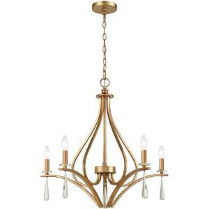 Katania - 5 Light Chandelier in Traditional Style with French Country and Country/Cottage inspirations - 25 Inches tall and 27 inches wide