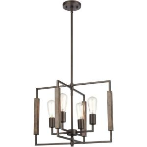 Zinger - 4 Light Chandelier in Modern/Contemporary Style with Mid-Century and Scandinavian inspirations - 16 Inches tall and 20 inches wide