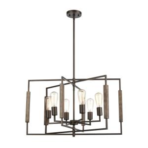 Zinger - 6 Light Chandelier in Modern/Contemporary Style with Mid-Century and Scandinavian inspirations - 17 Inches tall and 28 inches wide