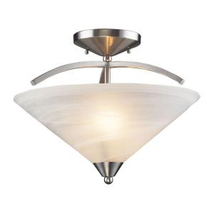 Elysburg - 2 Light Semi-Flush Mount in Transitional Style with Art Deco and Retro inspirations - 15 Inches tall and 16 inches wide