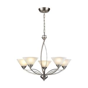Elysburg - 5 Light Chandelier in Transitional Style with Art Deco and Retro inspirations - 23 Inches tall and 28 inches wide