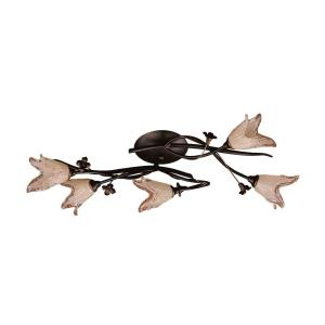 Fioritura - 5 Light Flush Mount in Traditional Style with Nature-Inspired/Organic and Country/Cottage inspirations - 7 Inches tall and 13 inches wide