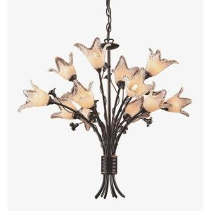 Fioritura - 12 Light Chandelier in Traditional Style with Nature-Inspired/Organic and Country/Cottage inspirations - 24 Inches tall and 29 inches wide