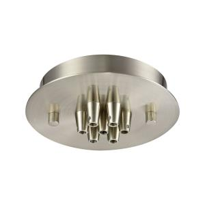 Accessory - 7 Light Small Round Canopy in Transitional Style with Mid-Century and Retro inspirations - 1 Inches tall and 6 inches wide