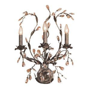 Circeo - 3 Light Wall Bracket in Traditional Style with Nature-Inspired/Organic and Shabby Chic inspirations - 24 Inches tall and 17 inches wide