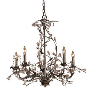 Circeo - 5 Light Chandelier in Traditional Style with Nature-Inspired/Organic and Shabby Chic inspirations - 28 Inches tall and 27 inches wide