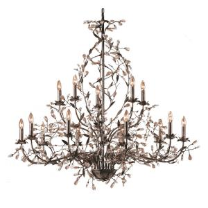 Circeo - Fifteen Light Chandelier in Traditional Style with Nature-Inspired/Organic and Shabby Chic inspirations - 48 Inches tall and 54 inches wide