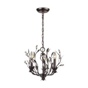Circeo - 3 Light Chandelier in Traditional Style with Nature-Inspired/Organic and Shabby Chic inspirations - 13 Inches tall and 16 inches wide