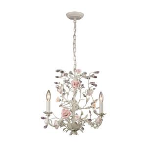 Heritage - 3 Light Chandelier in Traditional Style with Nature-Inspired/Organic and Shabby Chic inspirations - 18 Inches tall and 18 inches wide