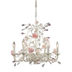 Heritage - 6 Light Chandelier in Traditional Style with Nature-Inspired/Organic and Shabby Chic inspirations - 20 Inches tall and 22 inches wide
