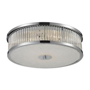 Amersham - 4 Light Flush Mount in Modern/Contemporary Style with Art Deco and Luxe/Glam inspirations - 6 Inches tall and 15.8 inches wide