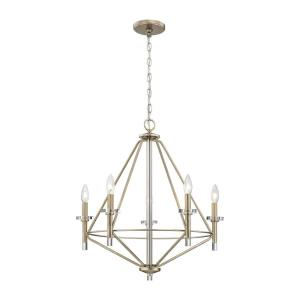 Lacombe - 5 Light Chandelier in Transitional Style with Mid-Century and Scandinavian inspirations - 25 Inches tall and 24 inches wide