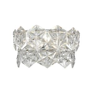 Lavique - 2 Light Wall Sconce in Traditional Style with Luxe/Glam and Art Deco inspirations - 9 Inches tall and 14 inches wide