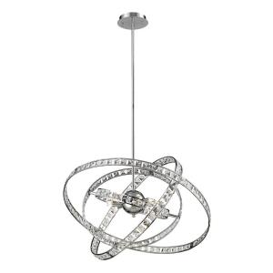 Saturn - 6 Light Chandelier in Modern/Contemporary Style with Mid-Century and Luxe/Glam inspirations - 29.5 Inches tall and 24 inches wide