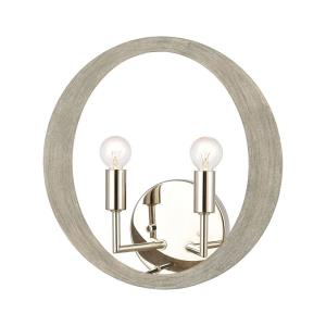 Retro Rings - 2 Light Wall Sconce