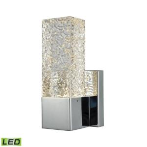 Cubic Ice - 5W 1 LED Wall Sconce in Modern/Contemporary Style with Luxe/Glam and Art Deco inspirations - 8 Inches tall and 4 inches wide