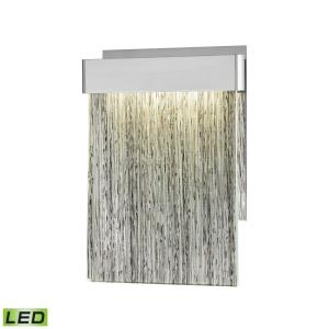 Meadowland - 10W 1 LED Wall Sconce in Modern Style with Nature-Inspired and Art Deco inspirations - 11 Inches tall and 8 inches wide