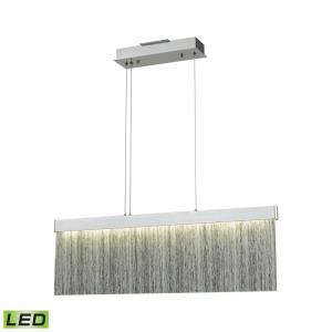Meadowland - 34W 1 LED Island in Modern/Contemporary Style with Nature-Inspired/Organic and Art Deco inspirations - 11 Inches tall and 32 inches wide