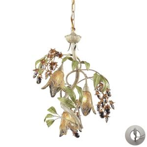 Huarco - 3 Light Chandelier in Traditional Style with Nature-Inspired/Organic and Country/Cottage inspirations - 19 Inches tall and 16 inches wide