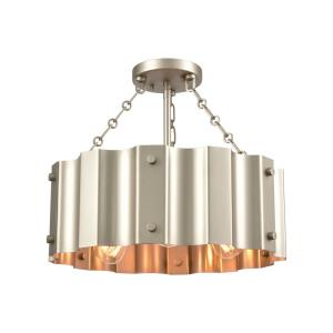 Clausten - Three Light Semi-Flush Mount