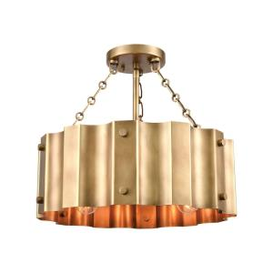Clausten - 3 Light Semi-Flush Mount in Modern/Contemporary Style with Urban and Modern Farmhouse inspirations - 14 Inches tall and 17 inches wide
