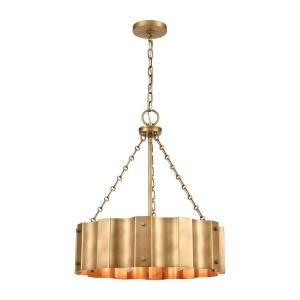 Clausten - 4 Light Chandelier in Modern/Contemporary Style with Urban/Industrial and Modern Farmhouse inspirations - 23 Inches tall and 21 inches wide