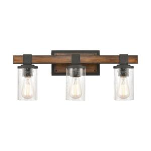 Crenshaw - 3 Light Bath Vanity in Transitional Style with Modern Farmhouse and Country/Cottage inspirations - 9 Inches tall and 22 inches wide