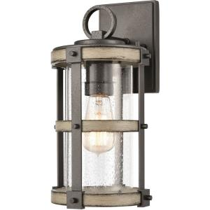 Crenshaw - 1 Light Outdoor Wall Sconce in Transitional Style with Modern Farmhouse and Country/Cottage inspirations - 14 Inches tall and 7 inches wide