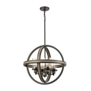 Beaufort - 4 Light Chandelier in Transitional Style with Modern Farmhouse and Country/Cottage inspirations - 21 Inches tall and 21 inches wide