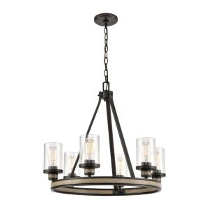 Beaufort - 6 Light Chandelier in Transitional Style with Modern Farmhouse and Country/Cottage inspirations - 22 Inches tall and 24 inches wide