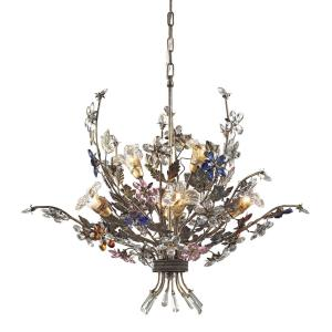 Brillare - 6 Light Chandelier in Traditional Style with Country/Cottage and Nature/Organic inspirations - 26 Inches tall and 32 inches wide