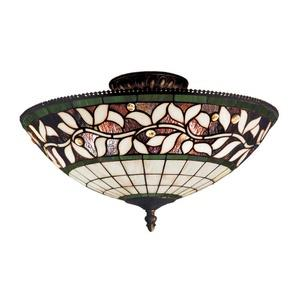 English Ivy - Three Light Semi-Flush Mount