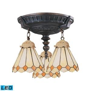 Mix-N-Match - Three Light Semi-Flush Mount