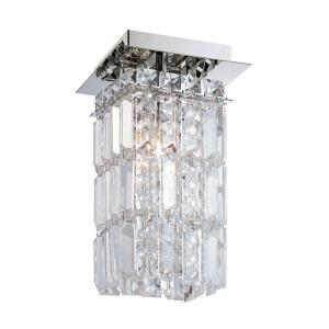 King - 1 Light Flush Mount in Modern/Contemporary Style with Luxe/Glam and Urban/Industrial inspirations - 10 Inches tall and 5 inches wide