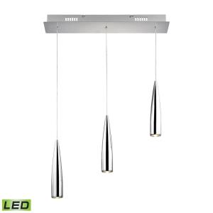 Century - 9W 3 LED Linear Pendant in Modern/Contemporary Style with Art Deco and Urban/Industrial inspirations - 10 Inches tall and 5 inches wide