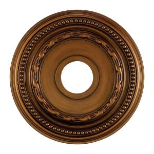 Campione - Medallion in Traditional Style with Victorian and Vintage Charm inspirations - 1 Inches tall and 15.5 inches wide